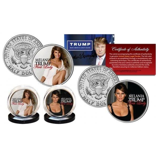 Melania Trump - First Lady - Authentic JFK Half Dollar 2-Coin Set - Unicorn Politics Shop
