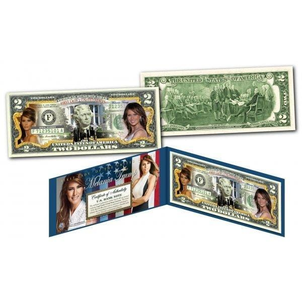 Melania Trump - First Lady - Genuine Legal Tender U.S. $2 Bill - Unicorn Politics Shop