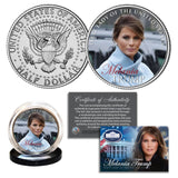 "Melania Trump - ""First Lady Of The United States"" - Authentic JFK Half Dollar - Unicorn Politics Shop"