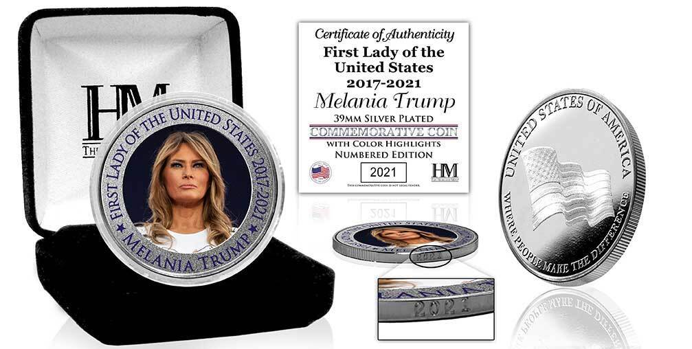 Melania Trump First Lady of the United States Silver Medallion - Proud Patriots