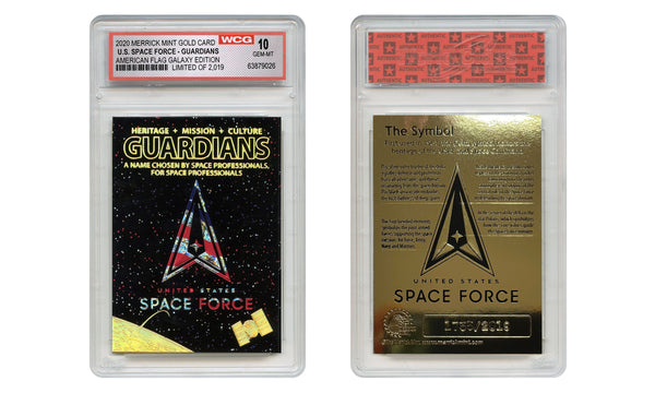 Space Force - 23K Gold Sculpted Trading Card (GALAXY EDITION) - Proud Patriots
