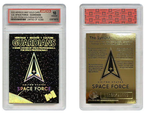 Space Force - 23K Gold Sculpted Trading Card (Graded Gem Mint 10) - Proud Patriots