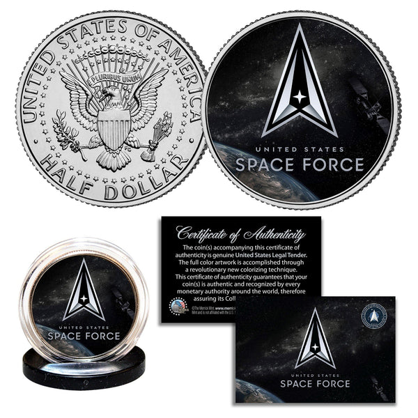"""Space Force"" New Logo - Authentic JFK Half Dollar - Proud Patriots"