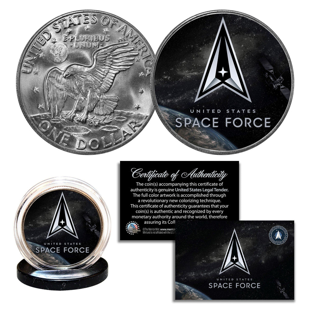 """Space Force"" New Logo - Authentic U.S Eisenhower Dollar - Proud Patriots"