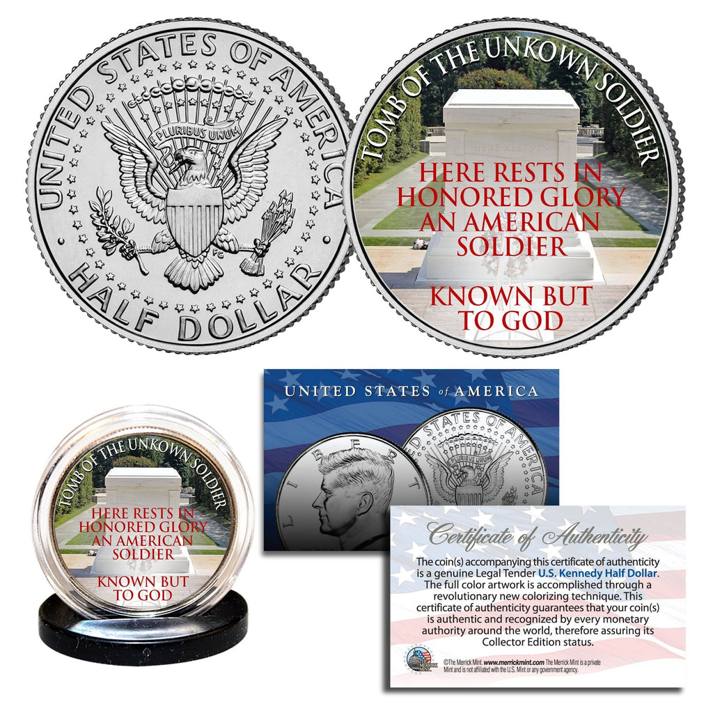 """Tomb of the Unknown Soldier"" - Authentic JFK Half Dollar - Proud Patriots"