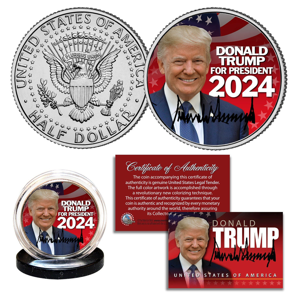 Trump 2024 - Authentic JFK Half Dollar - Proud Patriots