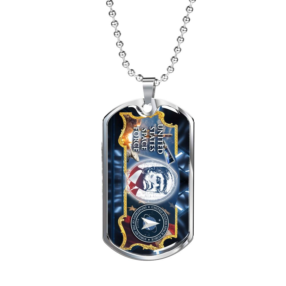 United State Space Force (Landscape) Dog Tag - Proud Patriots
