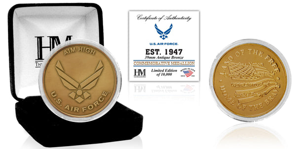 United States Air Force Antique Bronze Mint Coin - Proud Patriots