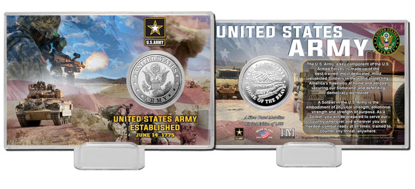 United States Army Silver Coin Card - Proud Patriots