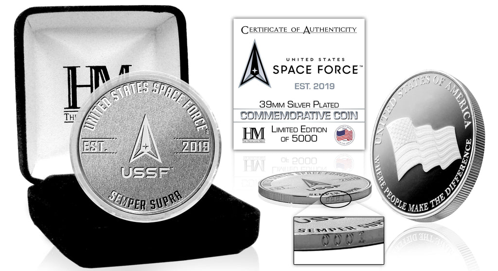 United States Space Force Silver Mint Coin (v) - Proud Patriots
