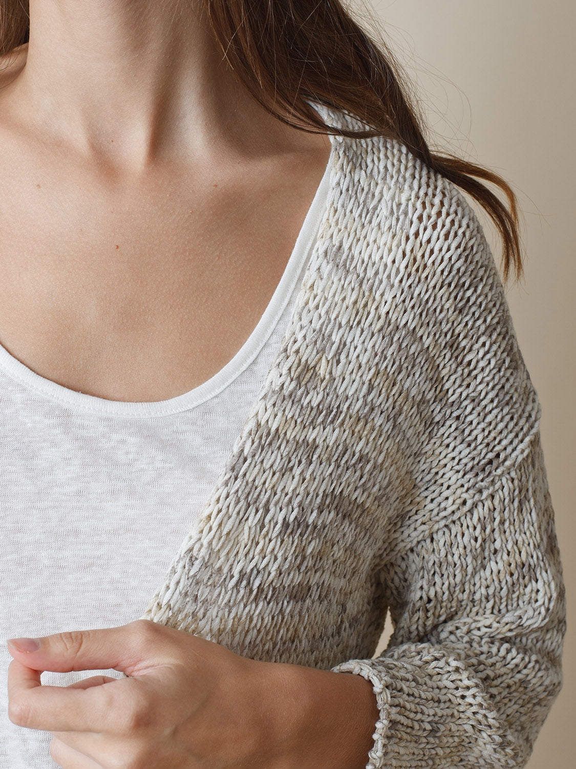 Indi & Cold Chaqueta Knit Top