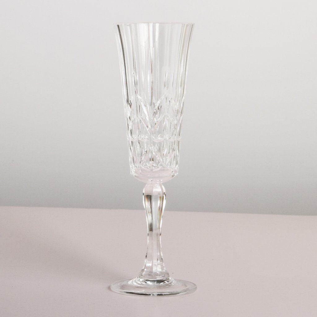 Pavillion Acrylic Champagne Glass - Clear & Pink