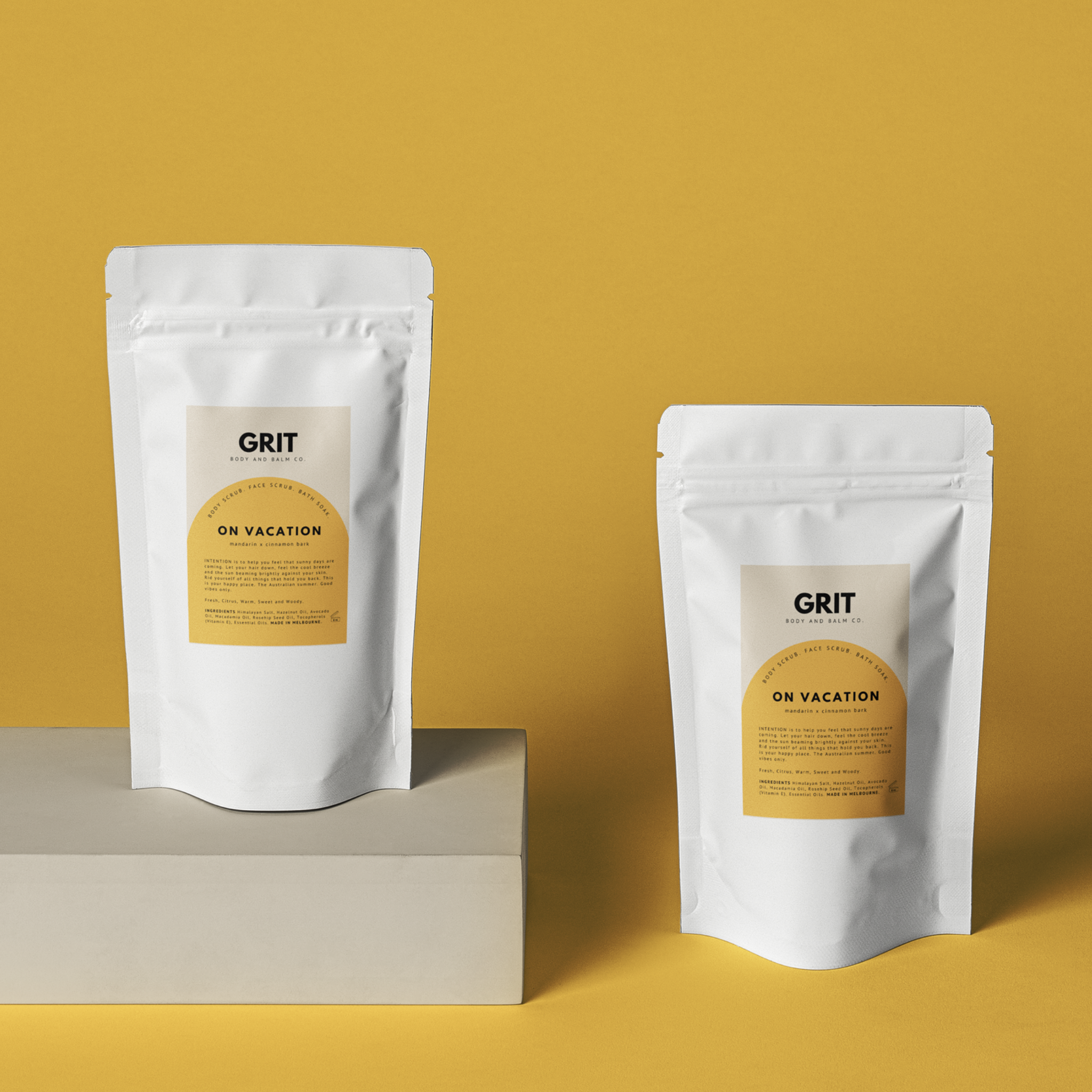 Grit Body Scrubs in On Vacation