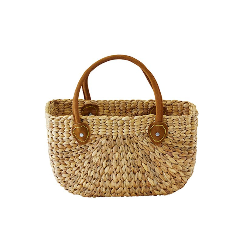 Harvest Basket Suede Hndl - Large