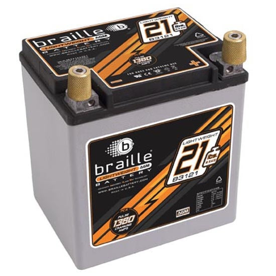 Braille B3121 Battery With Terminals
