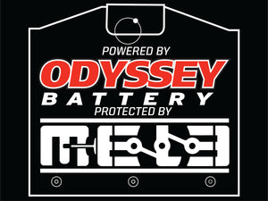Powered by Odyssey Protected by MeLe Sticker