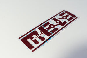 MeLe 6 in. Vinyl Cut Sticker - Red