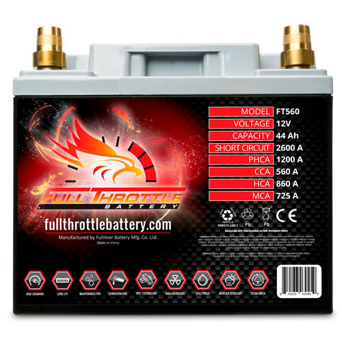 Full Throttle FT560 Battery With Terminals