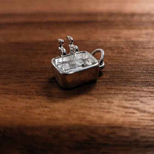 Silver Kitchen Sink charm