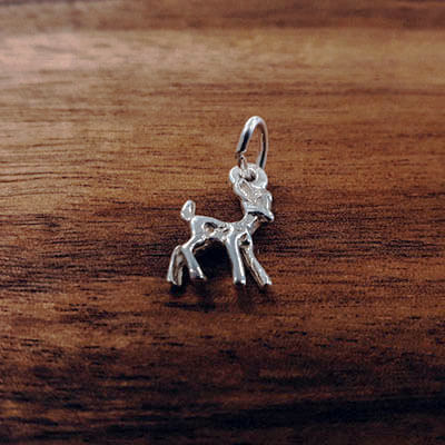 Silver Bambi charm Tam Jewellery