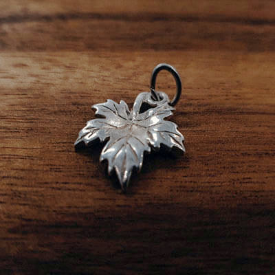 Silver Maple Leaf charm