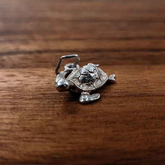 Silver Turtle charm Tam Jewellery