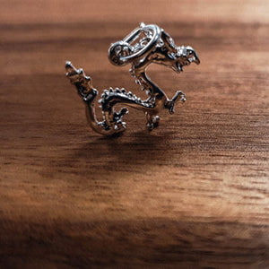 Silver Chinese Dragon charm