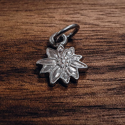 Silver Edelweiss charm