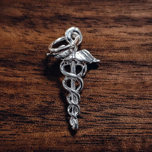 Silver Staff of Hermes, Medical symbol charm