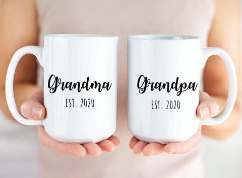 Grandma & Grandpa Duo Set Mugs