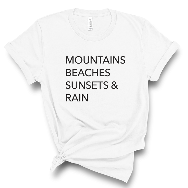 Mountains & Beaches Shirt - The Vancouver Collection