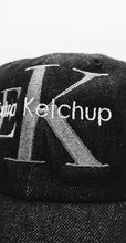 "Load image into Gallery viewer, EXTRAKETCHUP ""KLIEN"" BLACK DENIM CAP"