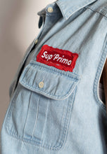 "Load image into Gallery viewer, ""SUPPRIMO"" 1 OF 1 WOMEN'S DENIM VEST"