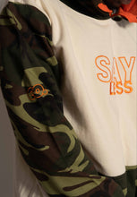 "Load image into Gallery viewer, ""SAYLESS"" CAMO HOODIE"