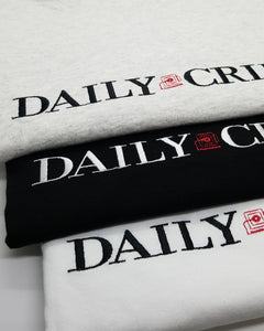 """DAILY CRIME"" TEE"