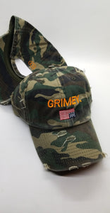 """GRIMEY USA"" CAMOUFLAGE DAD HAT"