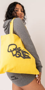 """ONE LOVE"" CANVAS TOTE BAG"