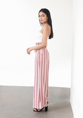 High waist stripped flared pants