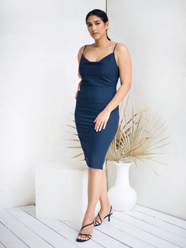 Cowl Neck Midi Dress
