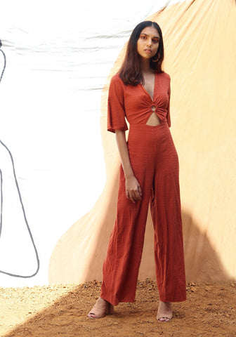 Ring detailed jumpsuit