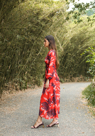 Button-down maxi dress