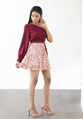 Tiered Mini Skirt