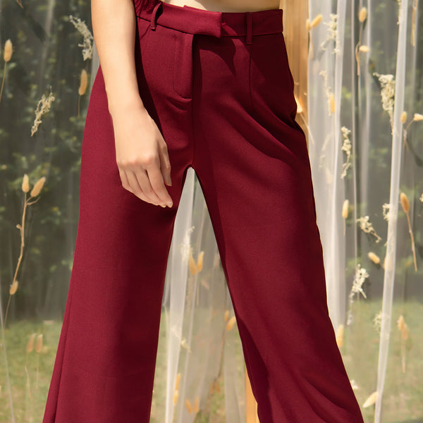 High waist flared pants
