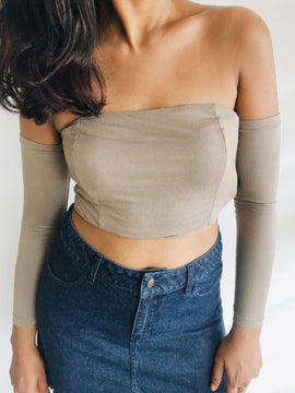 off shoulder jersey crop top