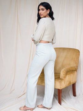 Boot Leg High Waist Trouser