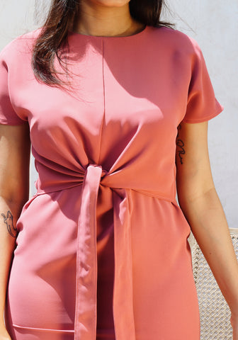 Front Tie up detail dress