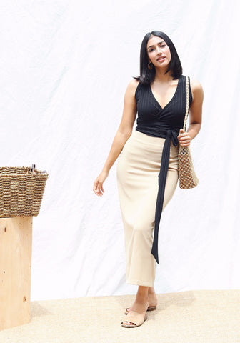 Polyester Pencil Skirt