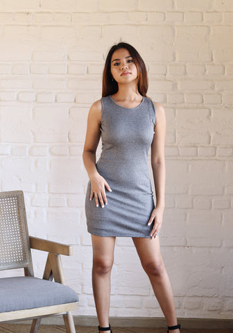 Halter cut mini dress