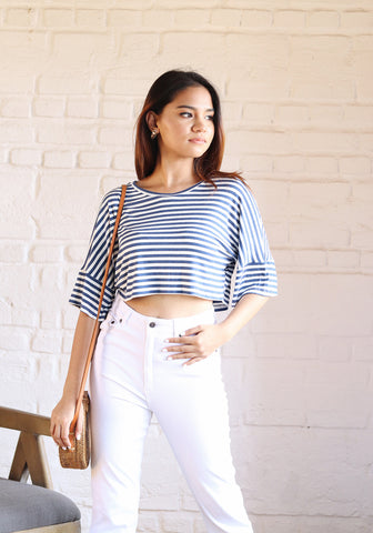 Over sized crop tee