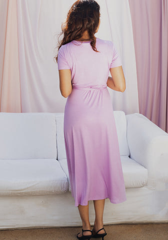 Wrap-around Midi Dress